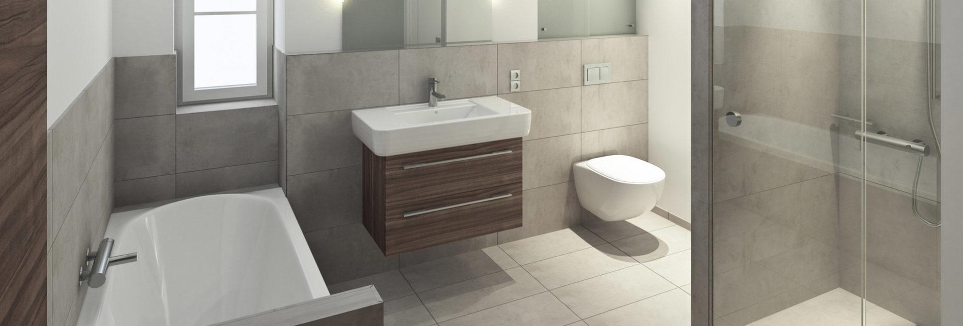 Moderne Badeinrichtung bei Malek Meisterbetrieb in Straßkirchen